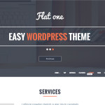 Премиум тема для WordPress Flatone