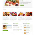 Премиум тема Food Recipes