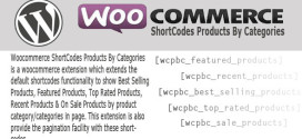 ShortCodes Products By Categories