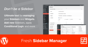 Custom Sidebar Manager
